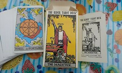 The Rider Tarot Deck The Magician 78 Card Waite Deck with instruction booklet