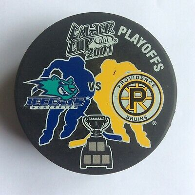 Bruins Vs. Ice Cats AHL Calder Cup 2001 Ice Hockey Puck Official Merchandise