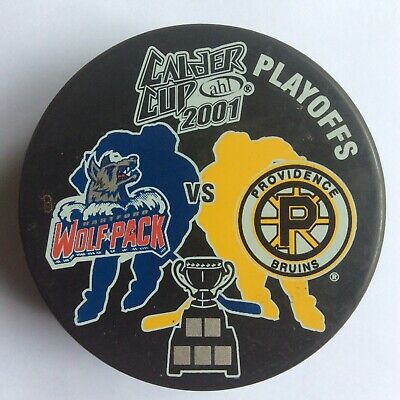 Bruins Vs. Wolf Pack AHL Calder Cup 2001 Ice Hockey Puck Official Merchandise