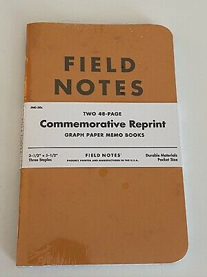 Field Notes COMMEMORATIVE REPRINT FNC-30c Two 48p Graph Paper Memo Books