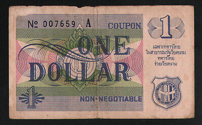 Thai MPC coupon Third Series $1--Fine condition. This is a rare item Seldom seen