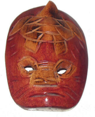 Hand Carved Wooden Wall Mask Excellent Condition
