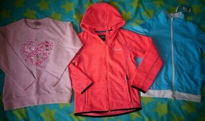 NEW 3x Girls hooded jackets and gym sweat tops 9-10 years