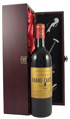 Chateau Brane Cantenac 1961 Margaux vintage wine in a gift box with accessories