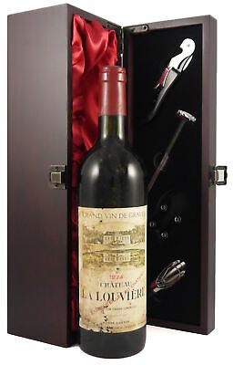Chateau La Louviere 1974 Graves vintage wine in a gift box with accessories
