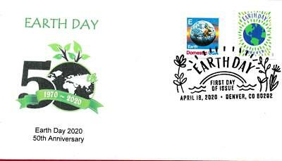 Earth Day 2020, Combo with 1988 E Stamp, First Day Cover