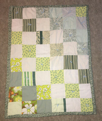 Baby Quilt Homemade Reversible 45x33
