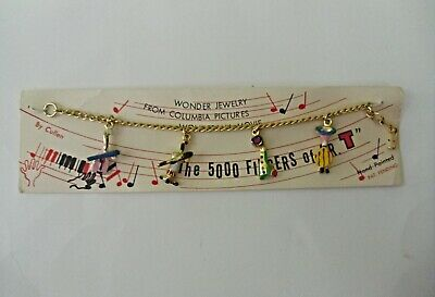 Vintage The 5000 Fingers Of Dr. T  Bracelet Mint On Card Hand Painted Dr Seuss