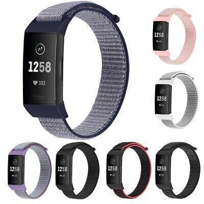 Replacement Woven Nylon Sport Loop Wristband Strap For Fitbit Charge 3 UK Newly