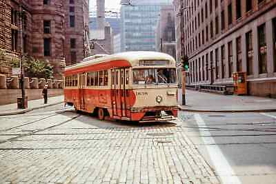 Pittsburgh Pcc Streetcar At Forbes Ave & Grant (A Scene In The Past)- Photo