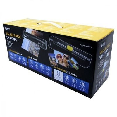 Text Laminator and Paper Trimmer Value Pack Box With Laminate Pouches