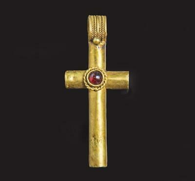 Beautiful Byzantine Gold and Garnet cross: 7th century AD.