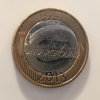 2013 £2 Two Pound Coin London Underground Roundel Circulated
