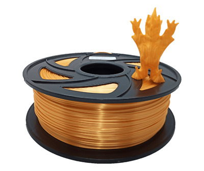 Filament PLA+ Silk - soie 1.75mm 1kg orange bobine pour imprimante 3D, biosourcé