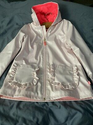 Billieblush Coat - Girls  Age 8 - Pale Pink Iridescent Sparkle/ Frills NEW