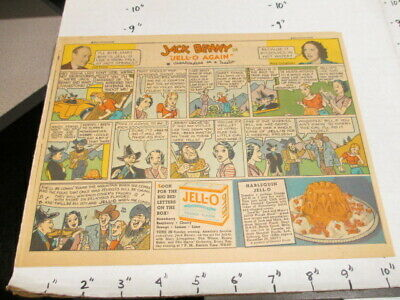 newspaper ad 1937 JELL-O Jack Benny hillbilly comic F yeast Arthur Murray dance