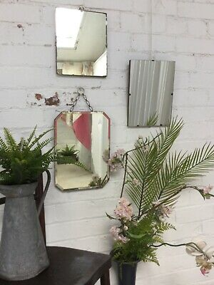 3 vintage utility era wall mirrors - 3 X wall mirror look nice as a collection