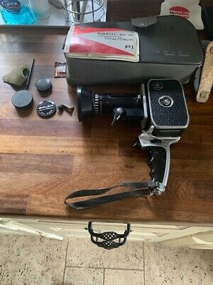 Bolex P1 Paillard Zoom P1 Reflex 8mm Movie Camera with Case/Filters