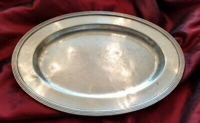 """Hotel New Yorker NYC Silver 12"""" Plate by International Silver Co Circa 1937"""