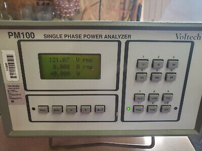 Voltech PM100 Single Phase Power Analyzer and tester. Great Condition