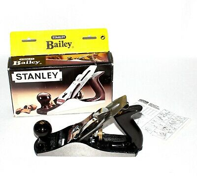 """STANLEY Bailey No.4 Wood/Timber Smoothing Plane + 50mm 2"""" Cutter Blade 1-12-004"""