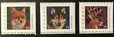 CANADA  2000 #s 1879-1881 MEDIUM VALUE  3 WILDLIFE DEFINITIVE COILS