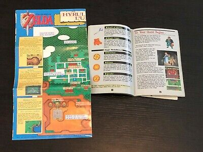 Zelda: Link to the Past (SNES) Map of Hyrule and Manual ONLY