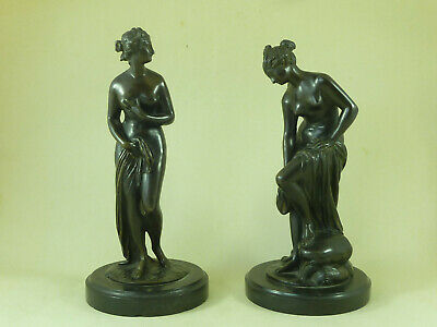 Pair Bathers French Bronze Etienne-Maurice Falconet Nude Female Antique