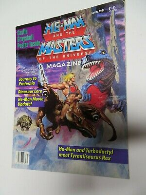 Vintage He-Man Masters Of The Universe Magazine With Poster Vol.3 #2 Spring 1987