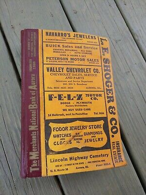 FINCH MCCULLOUCH'S City Directory 1946 AURORA KANE COUNTY ILLINOIS