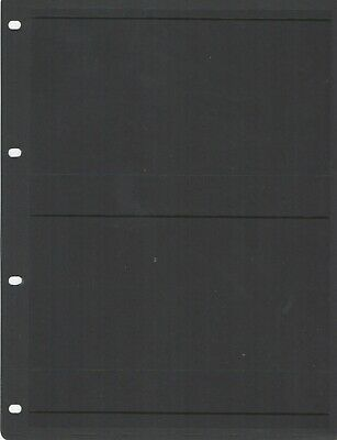 14 Hagner Stamp Stock Sheets Single Sided 2 Rows 28X215 Page - Loose Leaf Pages