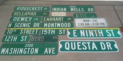 Lot of (17) Used Street Signs TRAFFIC HIGHWAY Interstate Road Vintage