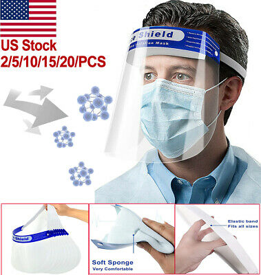 Premium Safety Anti-fog Full Face Shield Protection Cover Face Mask with Visor