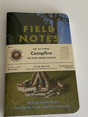 Field Notes Campfire Edition - New - Sealed - Pack Of Three W/ Patch FNC-35