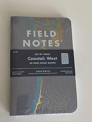 Field Notes Limited Edition Notebooks - Coastal (WEST) - FNC-38b Spring 2018