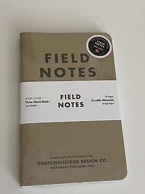 Field Notes 10th Anniversary 32 Page Memo Books 3-Pack
