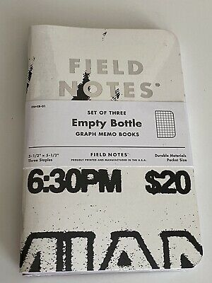 Field Notes Ultra Limited Edition Empty Bottle Sealed Only 2400 Packs FNxEB-01