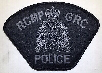 RCMP GRC POLICE Canada Grey/Black Hook/Loop Patch Woven Obsolete