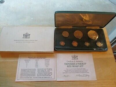 1971 Trinidad And Tobago Proof Set Minted at The Franklin Mint