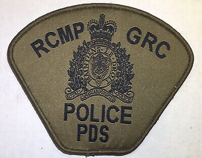 RCMP GRC POLICE PDS Canada Black/Green Hook/Loop Patch Woven Obsolete