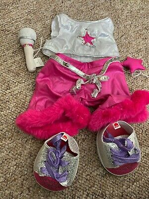 """Rock star outfit to fit 16"""" build a bear bears and animals plus shoes"""