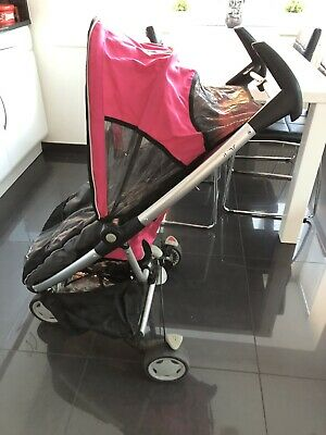 Quinny Zapp Hot pink Single Seat Stroller With Footmuff, Rain Cover And Storage