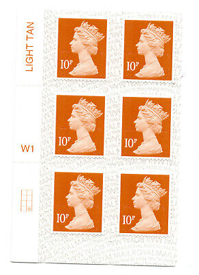 GB 2018 QE II MACHIN definitives 10p block with colour; unmounted mint stamps *s
