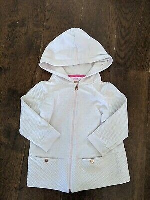 Ted Baker Girls Light Pink Hooded Sweater Age 2-3