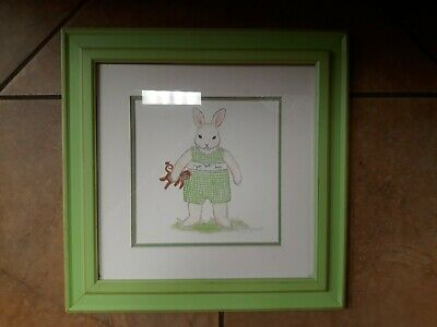 Kelly B. Rightsell Girls Bunny Picture Kids Decor