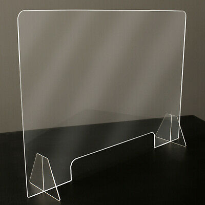 "Sneeze Guard - Clear Plastic - Table Desk Checkout Counter Shield 32""w x 23""h"