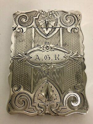 Antique American Hand Engraved Albert Coles Hallmarked Silver Calling Card Case