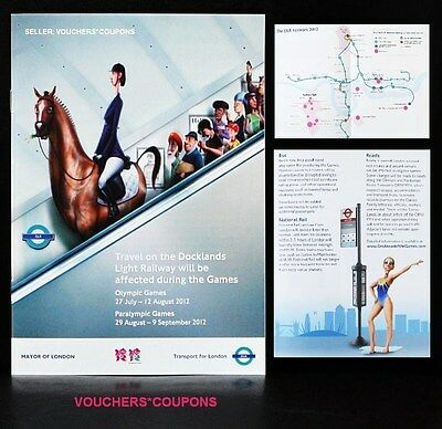 London 2012 Olympic And Paralympic Games Docklands Dlr Travel Guide Booklet