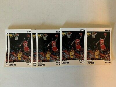 Michael Jordan Lot of 100 1991 Star Company White Ad Cards Dunking over Magic