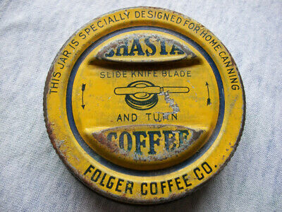 Folgers SHASTA COFFEE LID only -  for glass jar